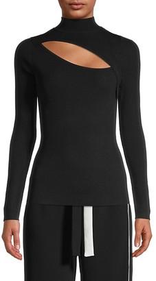 Lea & Viola Front Cutout Sweater