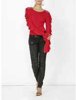 Balmain Long sleeve ruffle top