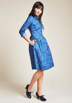 ModCloth Broadcast Coordinator Long Sleeve Shirt Dress in Frond in XL
