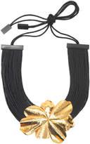 Josie Natori Metal Floral Necklace