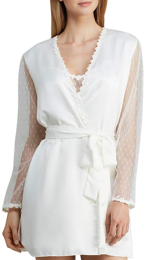 Flora Nikrooz Showstopper Charmeuse Cover-Up Robe