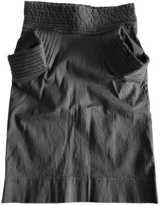 Preen Grey Cotton - elasthane Skirt for Women
