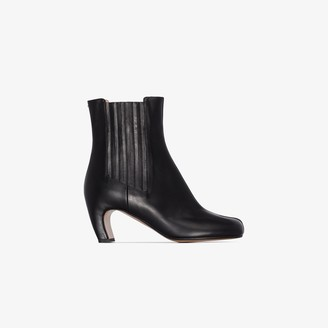 Maison Margiela black Tabi 60 leather ankle boots