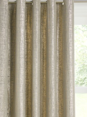 John Lewis & Partners Metallic Velvet Pair Lined Eyelet Curtains