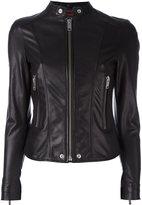 Diesel banded collar jacket - women - Lamb Skin/Polyester/Acetate - XS
