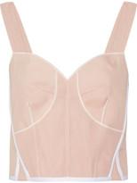 Calvin Klein Collection Lemar Cropped Silk-blend Organza Bustier Top - Blush