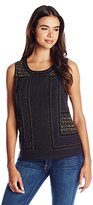 Lucky Brand Women's Gold Embellished Tank Top