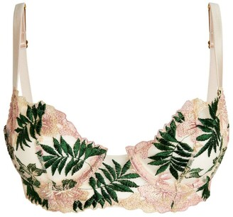 Gilda and Pearl Embroidered Le Fleurs Plunge Bra