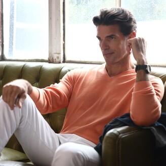 Romeo Merino - Merino Wool V-Neck Sweater Charcoal