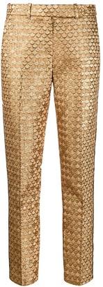 Paule Ka Fishscale Slim-Fit Trousers