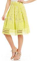 Antonio Melani Greer Organza Jacquard/Chemical Lace Skirt