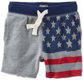 Osh Kosh Baby Boy American Flag French Terry Shorts
