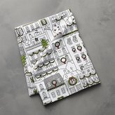 Crate & Barrel Christmas Town Dish Towel