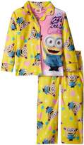Despicable Me Little Girls' Tres Cute Minions 2-Piece Pajama Coat Set