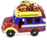 Brightly Colored Ceramic Bus Figurine from Guatemala, 'Bus to Totonicapan'