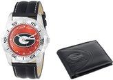 "Game Time Men's COL-WWS-GEO ""Watch & Wallet"" Watch - Georgia"