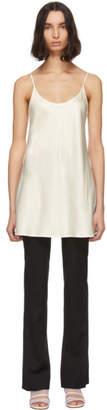 La Perla Off-White Silk Mini Dress