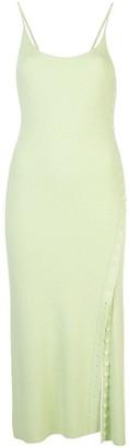 Proenza Schouler White Label Long Buttoned Up Dress