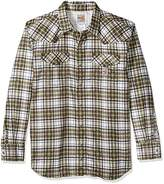 Carhartt Men's Big and Tall Flame Resistant Snap Front Plaid Shirt