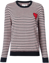 Chinti and Parker Jacquard Crewneck Sweater