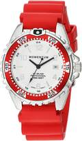 Momentum Women's Quartz Stainless Steel and Rubber Diving Watch, Color: (Model: 1M-DN11LD1D)