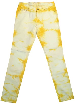 Michael Kors Yellow Cotton - elasthane Jeans for Women