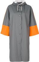 Marni Stutterheim contrast sleeve raincoat - women - Cotton/Polyester/Vinyl - M