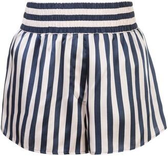 Morgan Lane Corey striped pajama shorts