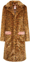 Shrimps Leopard Faux Fur Claude Coat