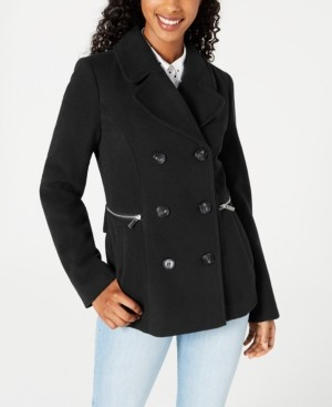 Maralyn & Me Juniors' Double-Breasted Peacoat, Created for Macy's