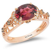 LeVian Le Vian Diamond and Rhodolite Chocolatier Ring,0.14TCW