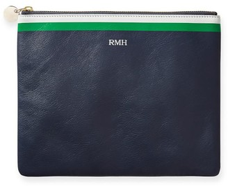 Mark And Graham Leather Stripe Pouch
