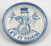 Hadley Pottery Coaster, Let it Snow Pattern