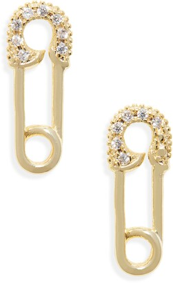 Melinda Maria Safety Pin Earrings