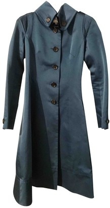 Celine Blue Trench Coat for Women Vintage