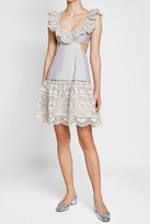 Zimmermann Striped Cotton Dress with Cut-Out Detail