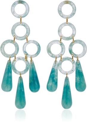 Cult Gaia Bibi Small Marbled Acrylic Earrings