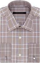 Sean John Men's Regular Fit Large Plaid Spread Collar Dress Shirt