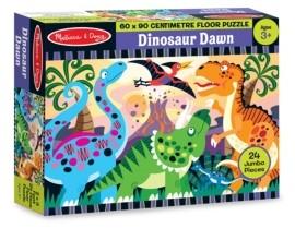 Melissa & Doug Dinosaur Dawn Floor Puzzle (24 Pc) - Dinosaur Toy