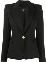 Balmain fitted one button blazer