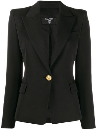 Balmain fitted one button blazer