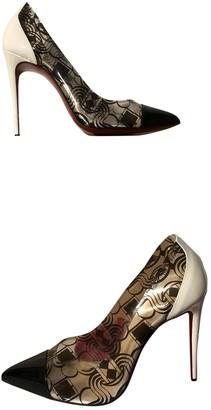 Christian Louboutin Pigalle Black Plastic Heels
