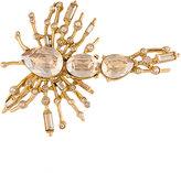 Oscar de la Renta radial brooch