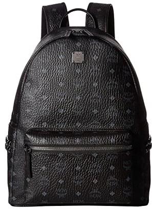 MCM Stark Side Stud Medium Backpack (Black) Backpack Bags
