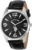 U.S. Polo Assn. Men's Analogue Dial Leather Strap Watch USC50010