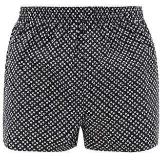 Sunspel Cotton Flower Print Cotton Poplin Boxer Shorts - Mens - Navy