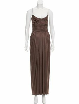 Oscar de la Renta Sleeveless Evening Dress