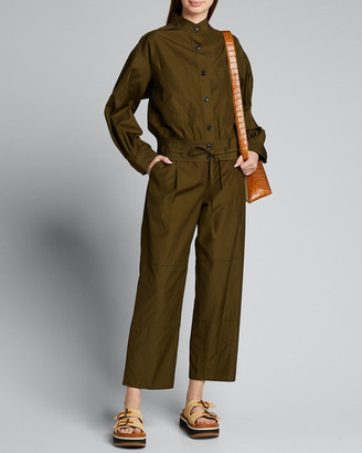 Jason Wu Cropped Workwear Belted Pants