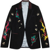 Gucci Wool mohair evening jacket with embroidery
