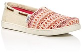 Toms Girls' Bimini Glitter Fair Isle Flats - Toddler, Little Kid, Big Kid